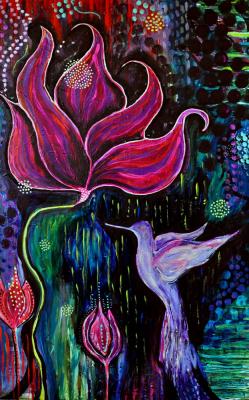 Ascension Hummingbird Painting