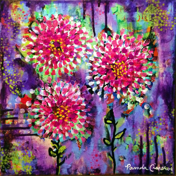 Everything's Coming Up Peonies Painting