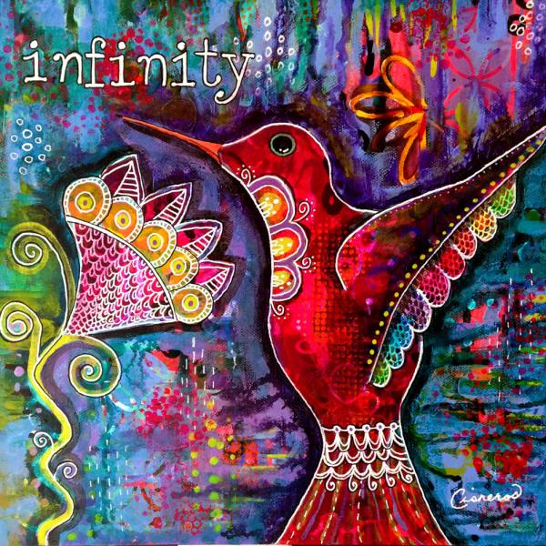 Infinity Hummingbird Painting