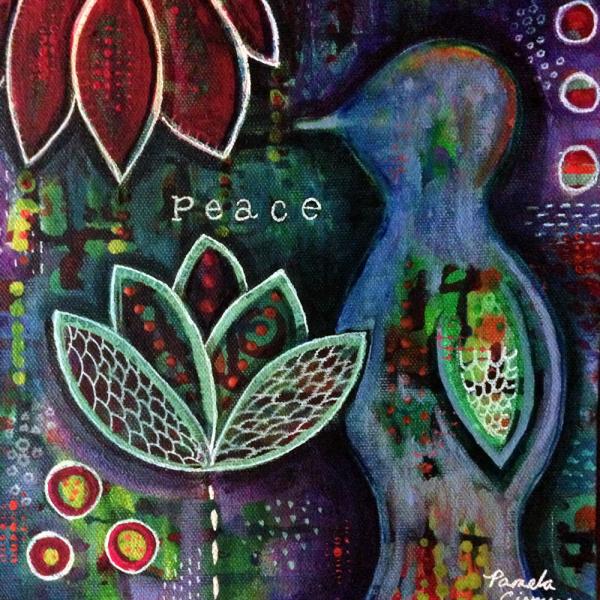 Peace Bird Painting