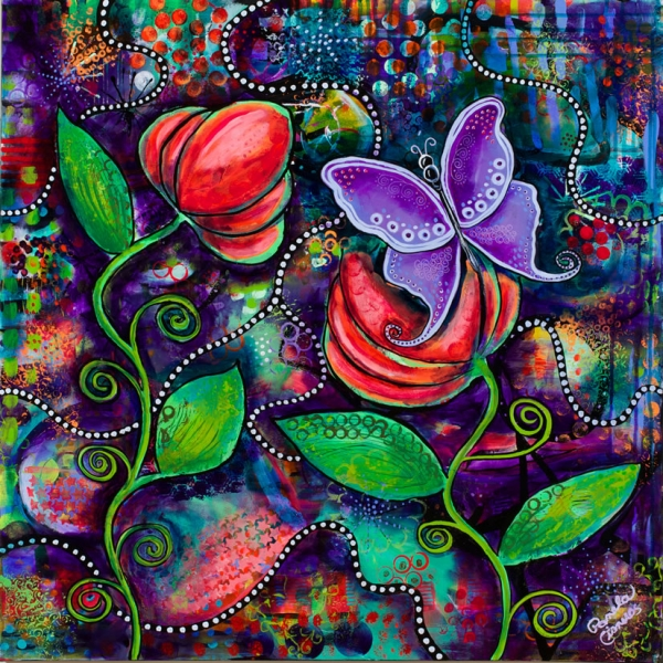 The Awakening Butterfly Painting